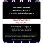 Sabotage Sports Tryout Flyer